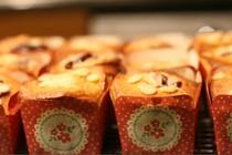 Raspberry bakewell cakes