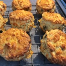 Young Buck blue cheese scones