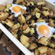Black pudding hash
