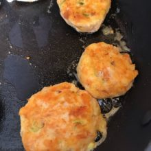 Smoked trout fishcakes